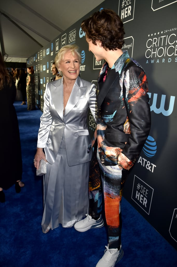 Glenn Close and Timothée Chalamet at 2019 Critics' Choice