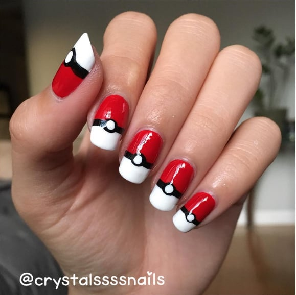 Pokemon nail art ideas popsugar beauty australia take a break from playing pokmon go to re create this nail art prinsesfo Gallery
