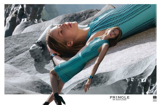 The Pringle of Scotland Spring 2012 ads invoke a hint of neon and psychedelic photography. Source: Fashion Gone Rogue