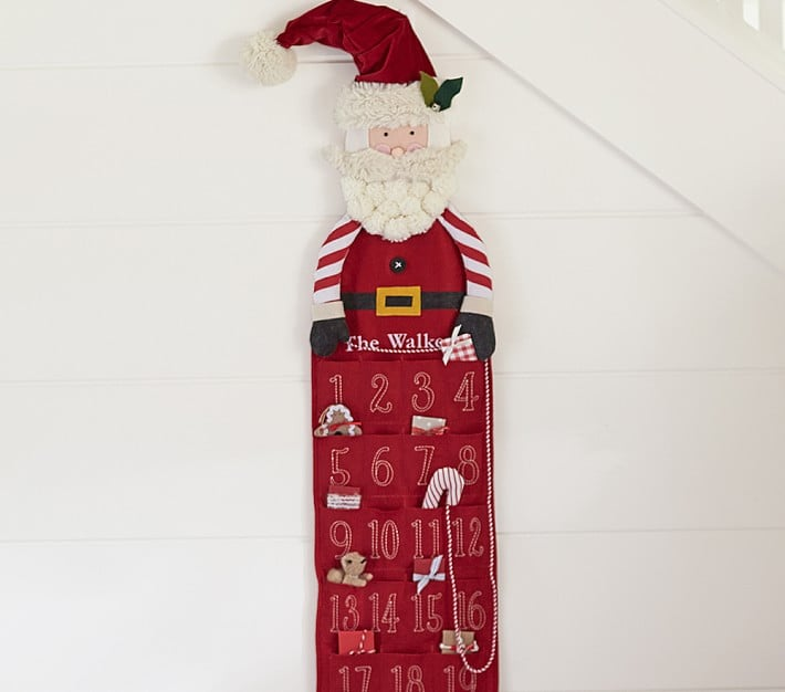 Buy: Pottery Barn Kids Skinny Santa Advent Calendar