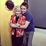 Nerdist's Chris Hardwick gave Joan Rivers a big hug.  Source: Instagram user nerdist