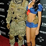 Tyson Beckford and Shanina Shaik at Heidi Klum's Halloween party.