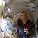 Heidi Klum left Dubai on a private jet. Source: Twitter user heidiklum