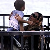 Gisele Bundchen kissed Ben at the park in Boston.