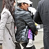 Halle Berry and Nahla Pick Up a Souvenir From a Disney Show