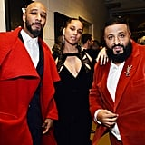 Pictured: Swizz Beatz, Alicia Keys, and DJ Khaled