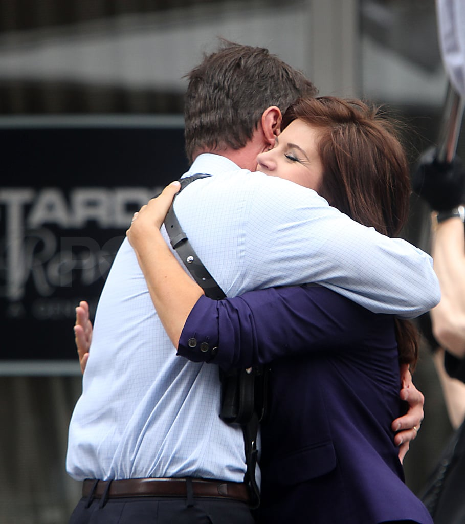 Tim DeKay and Tiffani Thiessen shared a hug.