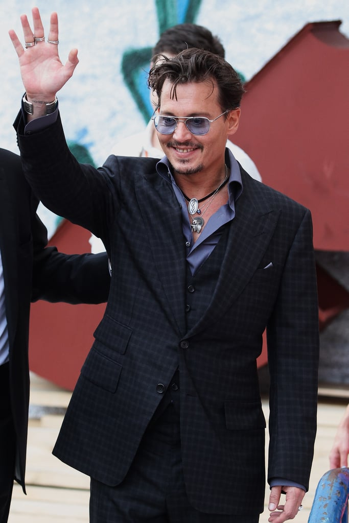 Johnny Depp attended the Moscow premiere of The Lone Ranger.