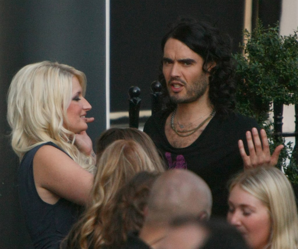 Russell Brand Filming With Girls And Jonah Hill In London