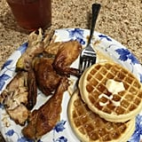 Chicken and waffles.