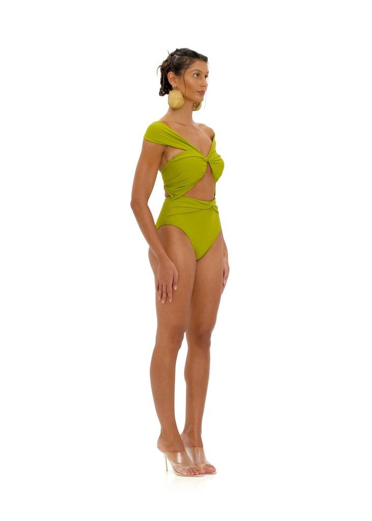 Andrea Iyamah Amina Olive One Piece Swimsuit