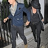Kate Moss and Jamie Hince out on the town.