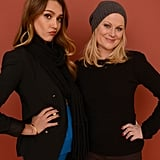 Jessica Alba and Amy Poehler got playful during their portrait session at the Sundance Film Festival.