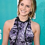 Emma Watson did press at the MTV Movie Awards.