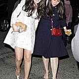 Zooey Deschanel went '60s style with Sophia Rossi to Kate Hudson's Halloween party in 2011.