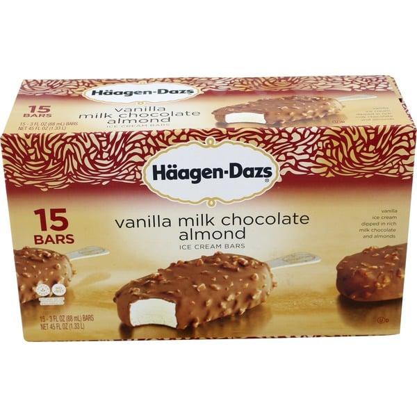 Häagen-Dazs Vanilla Milk Chocolate Almond ($12)