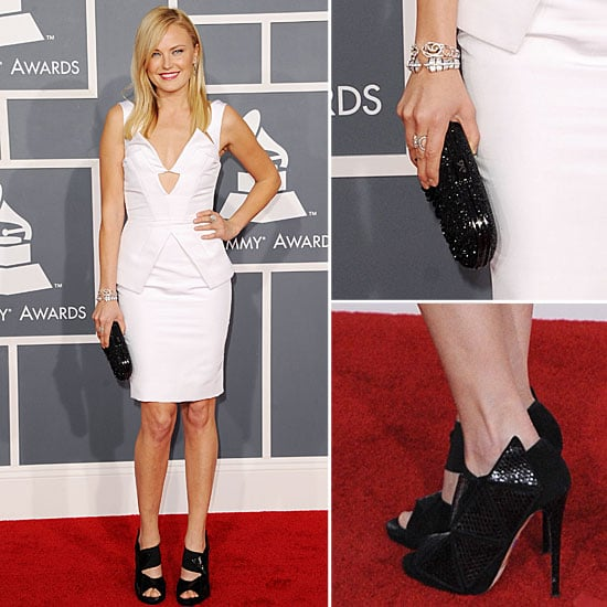 Malin Akerman In Short White Cushnie et Ochs at the 2012 Grammy Awards: Rate It or Hate It?