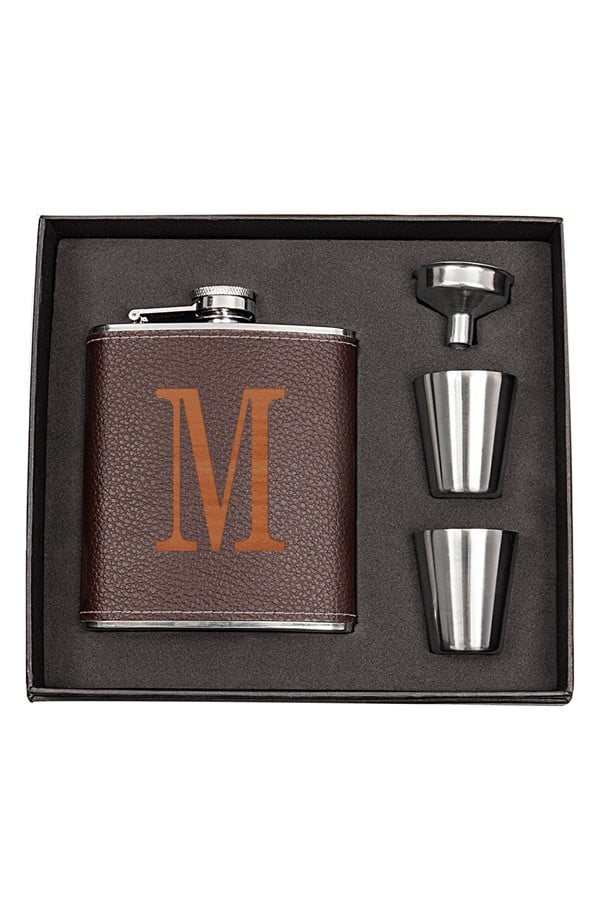 For Him: Personalized Flask Set