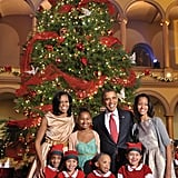 Obamas at Christmas in Washington 2012