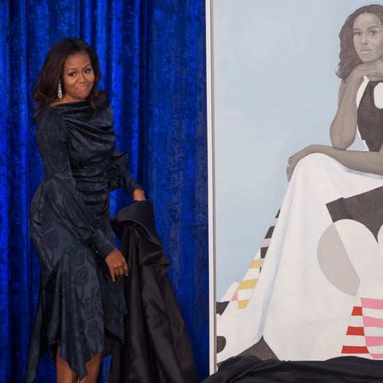 Michelle Obama's Blue Dress at Portrait Unveil