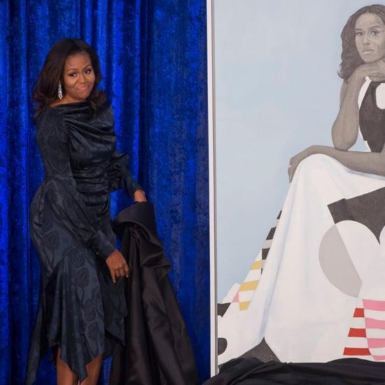 Michelle Obama's Blue Dress at Portrait Unveil