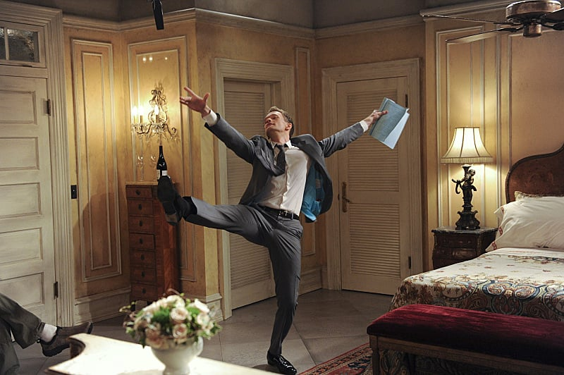Neil Patrick Harris does an impromptu dance move.