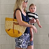 Reese took her son Tennessee Toth to the doctor in LA on Wednesday.