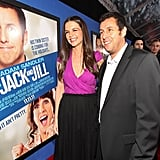 Katie Holmes and Adam Sandler got close for the premiere of their new film.