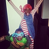 Madonna's Daughter Mercy as Pippi Longstocking and Son David as Leonardo