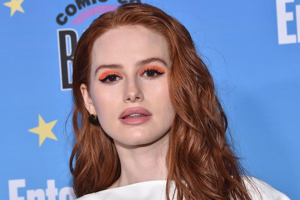 Madelaine Petsch's Neon Orange Eye Makeup