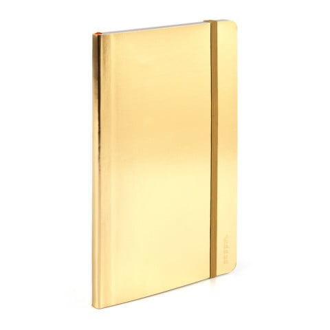 We bet she'll get plenty of compliments when she uses this eye-catching metallic Poppin notebook ($6) at work.