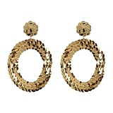 Baublebar Twiggy Sequin Hoop Dangle Earrings