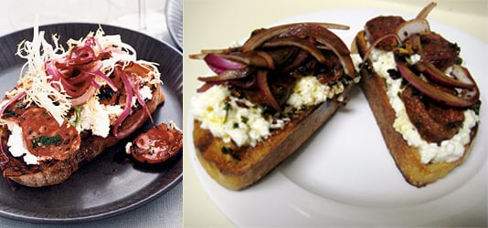 Theirs vs Mine: Crostini with Creamy Ricotta and Chorizo