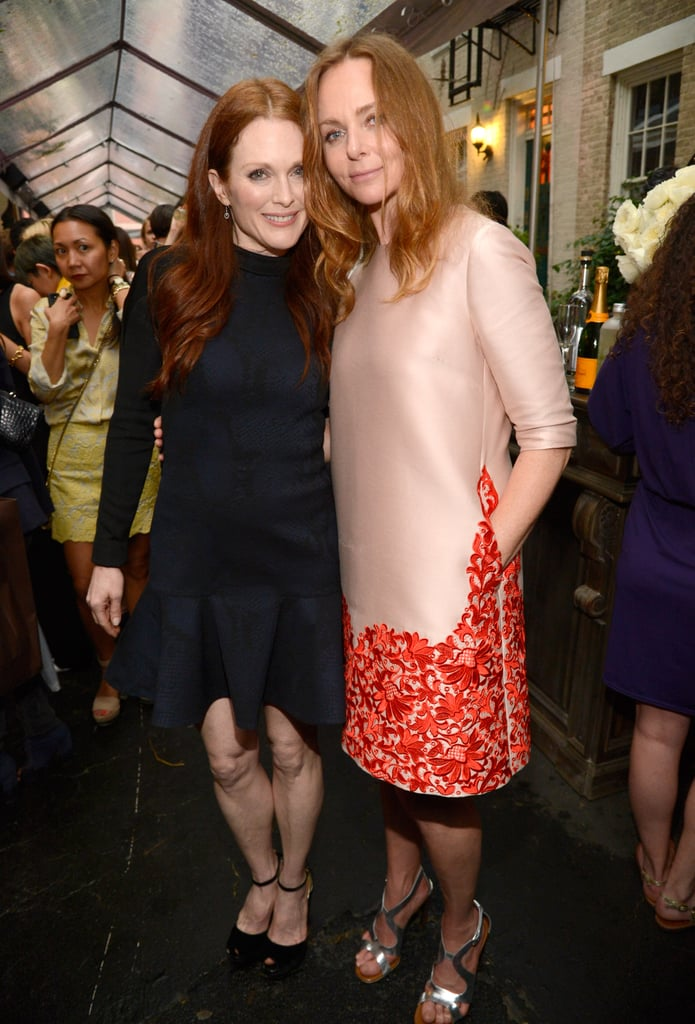 Julianne Moore and Stella McCartney at Stella McCartney's Resort 2014 presentation.