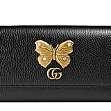 Gucci Farfalla Leather Continental Wallet