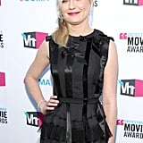 Kirsten Dunst wore a textural black dress to the Critics' Choice Movie Awards.