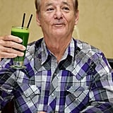 "Whether it's a green smoothie or a green cocktail, we would ""cheers"" Bill Murray any day."