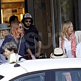 Sienna Miller and Tom Sturridge in Ibiza with her mom.