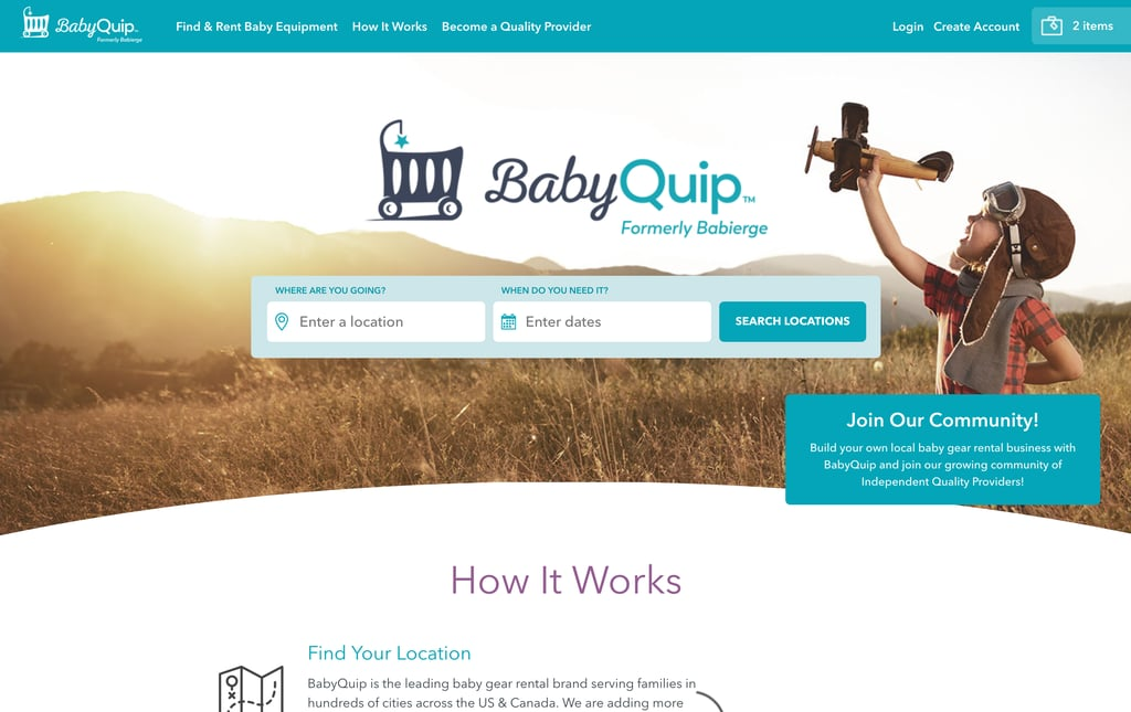 The User-Friendly BabyQuip Rental Reservation Process