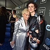 Glenn Close and Timothée Chalamet at 2019 Critics' Choice