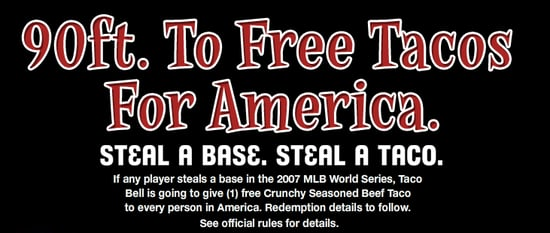 Taco Bell Hypes World Series With Free Tacos