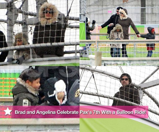 Pictures of Angelina Jolie and Brad Pitt on a Balloon Ride With Pax, Maddox, Shiloh, and Zahara