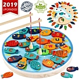 CozyBomB Magnetic Wooden Fishing Game Toy