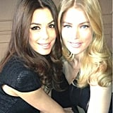 Eva Longoria shared a photo with Doutzen Kroes at a L'Oréal Paris photo shoot during the Cannes Film Festival. Source: Eva Longoria on WhoSay