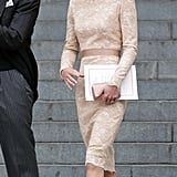 Once again, Kate's favourite nude LK Bennett Sledge heels made an appearance.
