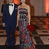 Princess Mary's Printed Gown Seemed a Bit Daring