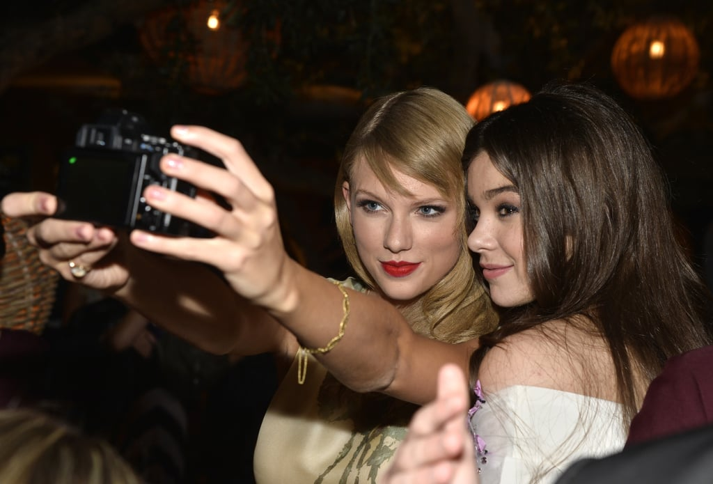 Taylor Swift and Hailee Steinfeld took selfies.