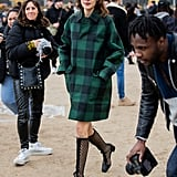 Alexa Chung's Street Style at Paris Fashion Week