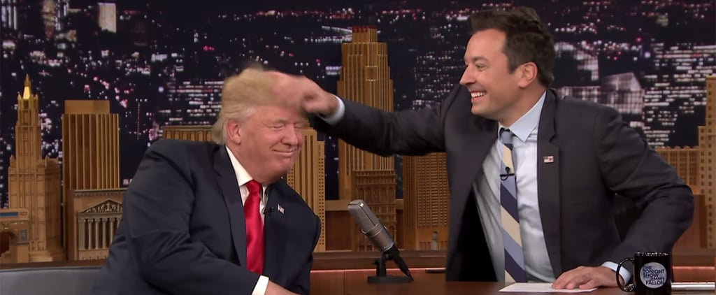 Jimmy Fallon Does the Country a Solid and Messes Up Donald Trump's Hair