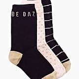 Every pair of socks in this set from Kate Spade ($30) has a little sparkle.